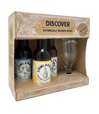 Lowlander Lowlander Cadeau 3-Pack + Glas