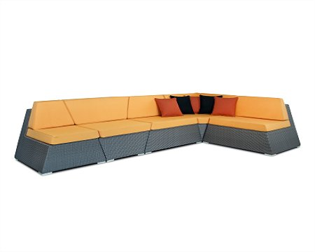 Wood Dream Rattan Lounge Square