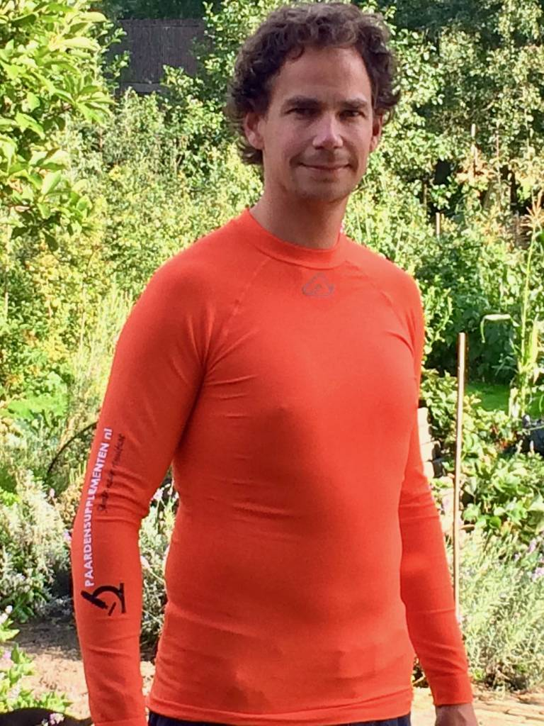 Thermoshirt baselayer lange mouw Paardensupplementen bedrukt
