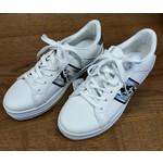 Witte sneaker dames met zwart/witte streep