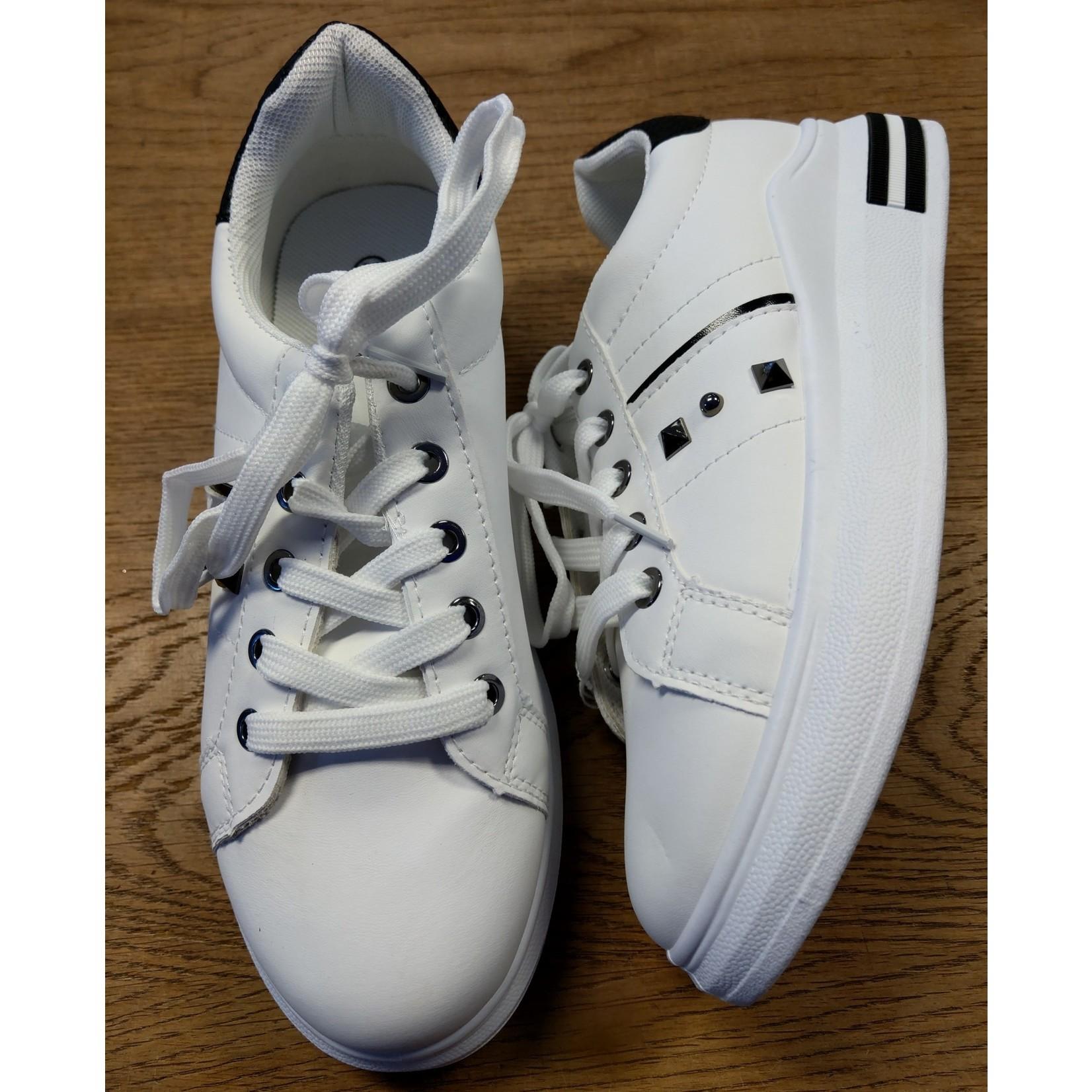 Witte skatesneaker dames