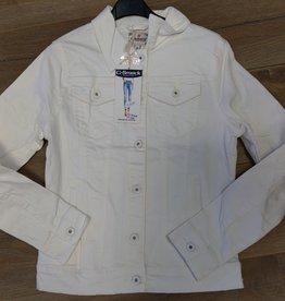 jeansjasje wit ( t/m 5XL )