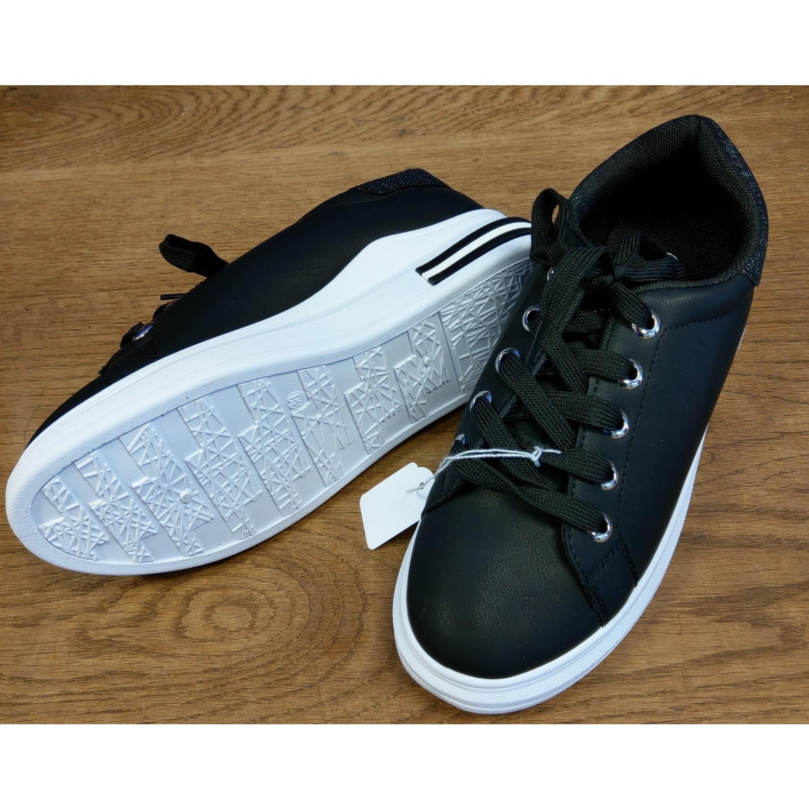 Skatesneaker dames Zwart