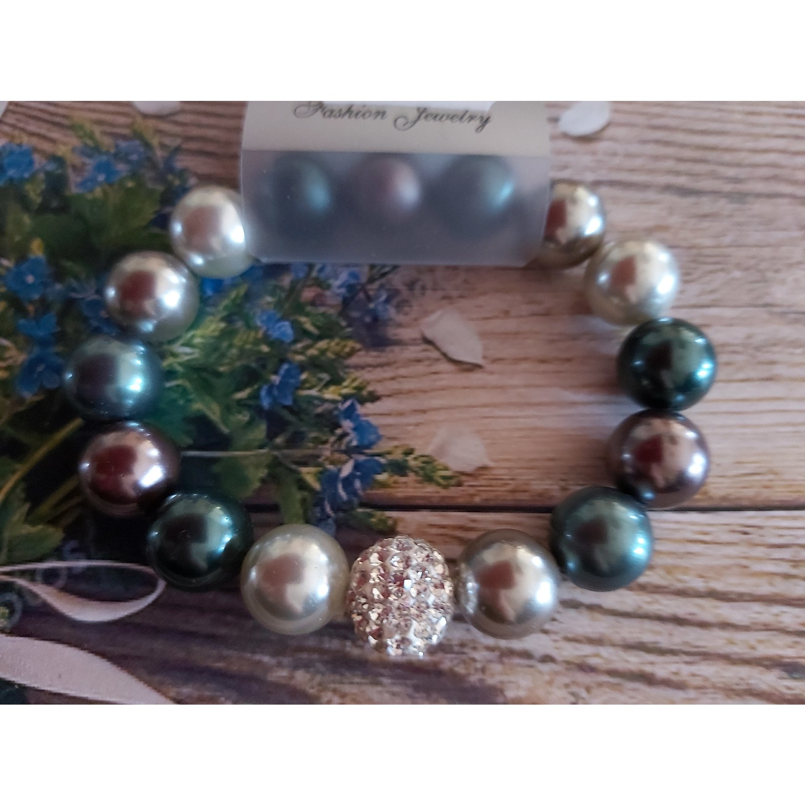 armband parels luxe dames blauw