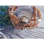 Armband met gouden steentjes dames