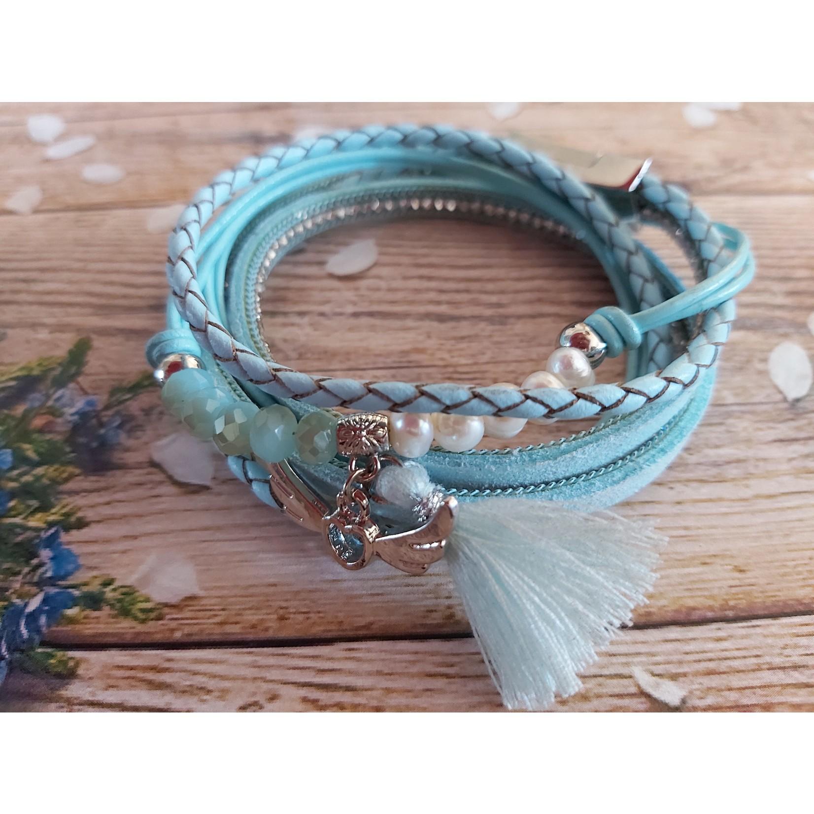 Armband 'Angle's Wings' dames blauw