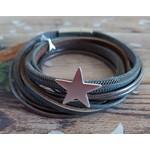 Armband met ster metallic dames