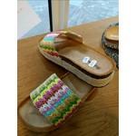 Stevige slipper multicolor dames