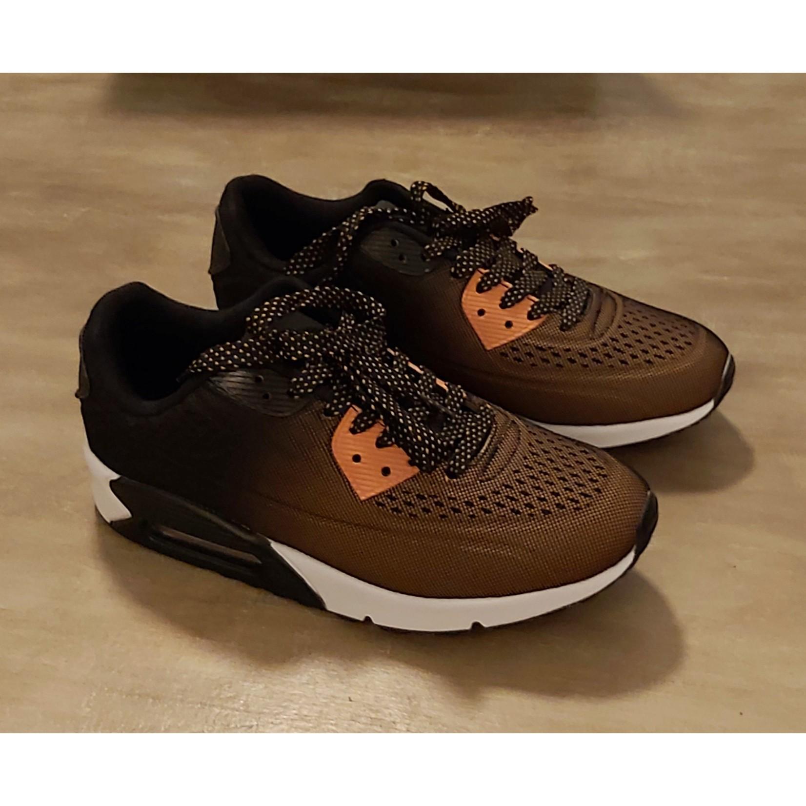 Sportieve sneaker unisex Bruin/Zwart