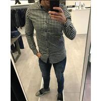 Overhemd Slim Fit Geruit Groen of Grijs