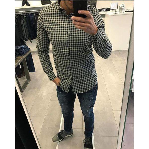 Groen Geruit Overhemd.Overhemd Slim Fit Geruit Groen Of Grijs Yugo Menswear Herenmode