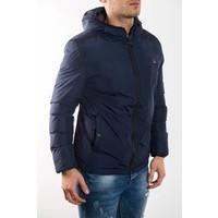 Y Short down jacket BLUE