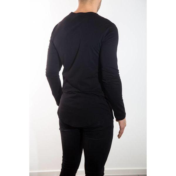 basic longsleeve shirt Black
