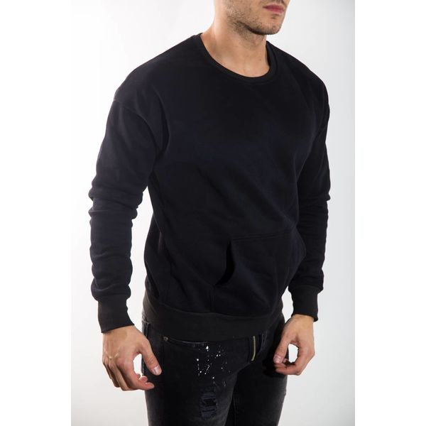 Black sweater back lace up