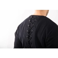 Y Black sweater back lace up