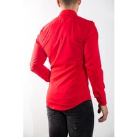 Blouse slim fit RED