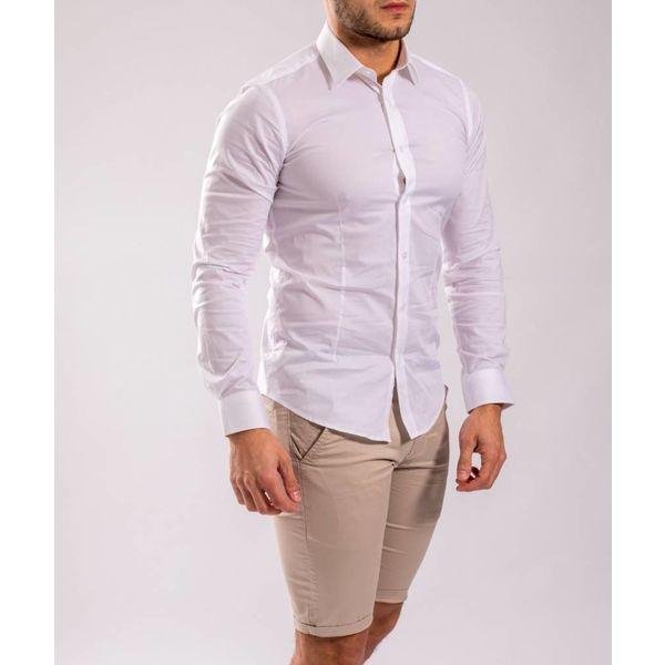 Slim fit hemd White