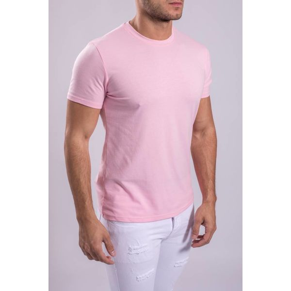 Y BASIC T-SHIRT STRETCH ROUND NECK ROZE