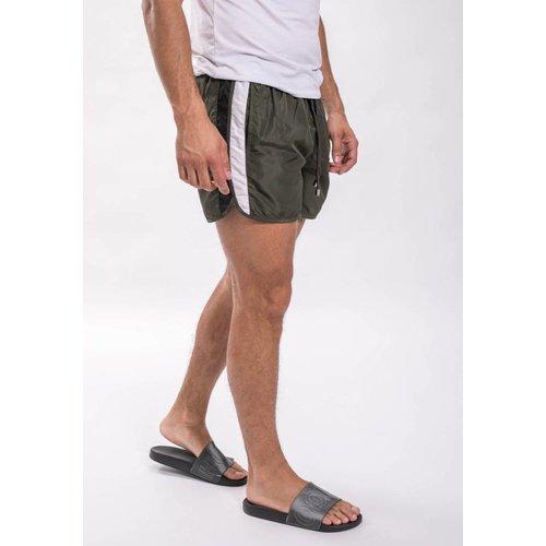 Army Zwembroek.Shorts Korte Broeken Yugo Menswear Herenmode Winkel Heerlen En