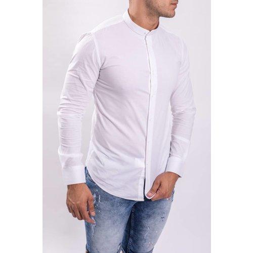 Y Hemd slim fit round neck C202-W White