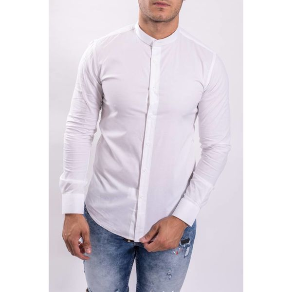 Y Hemd slim fit round neck C202-W White