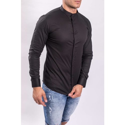 Y Hemd slim fit round neck C202-N Black