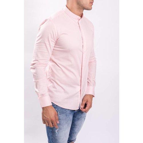 Hemd slim fit round neck C202-P Roze