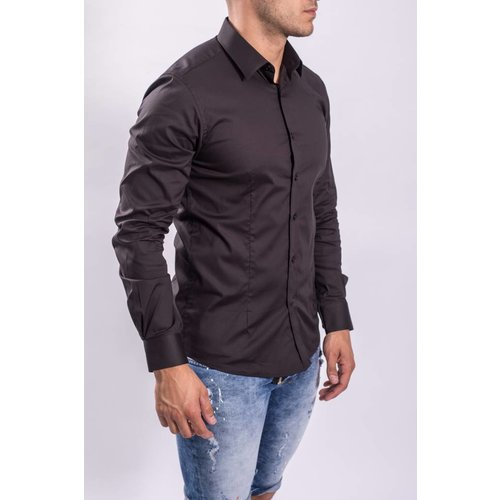 Y Slim fit hemd Black