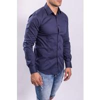 Y Slim fit hemd Dark blue