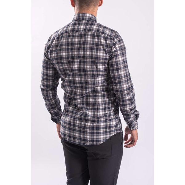 Blouse checkered Blue/Grey