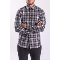 Y Blouse checkered Blue/Grey