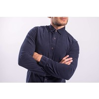 Y Blouse ribbed BLue