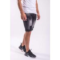 Y Jeans shorts Black splashes