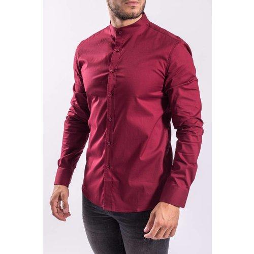 Y Hemd slim fit round neck Bordeaux