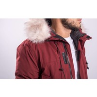 Y Winterjas / parka long (faux fur) Bordeaux