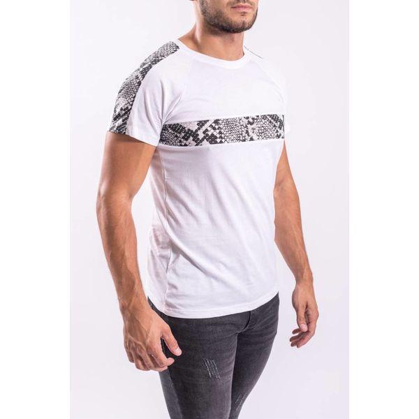 T-shirt snake stripes WHITE