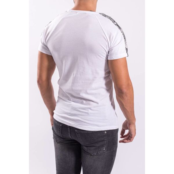 Y T-shirt snake stripes WHITE
