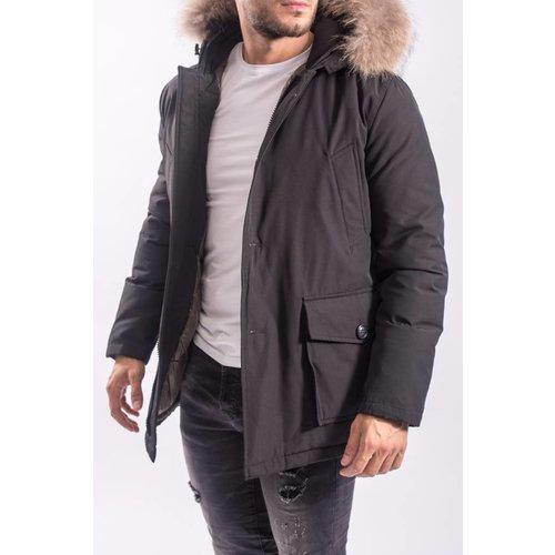 Y Winter parka / jas (real fur) BLACK