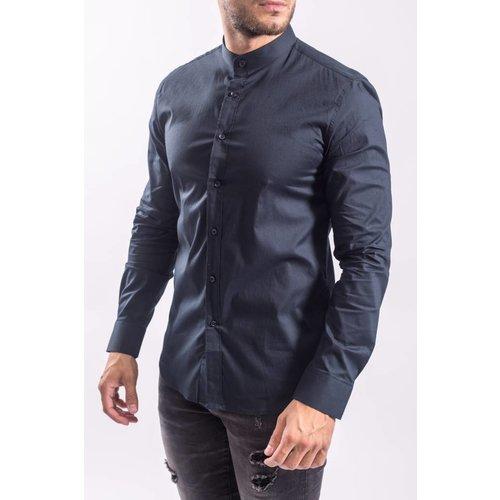 Hemd slim fit round neck Dark Blue