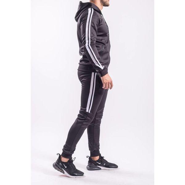 Y Tracksuit half striped BLACK