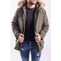 Winter parka / jas (real fur) ARMY GREEN