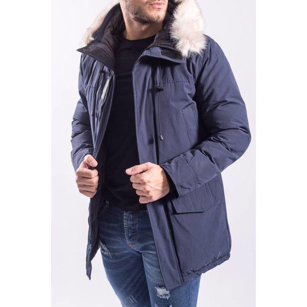 Y Winterjas / parka long (faux fur) Blauw