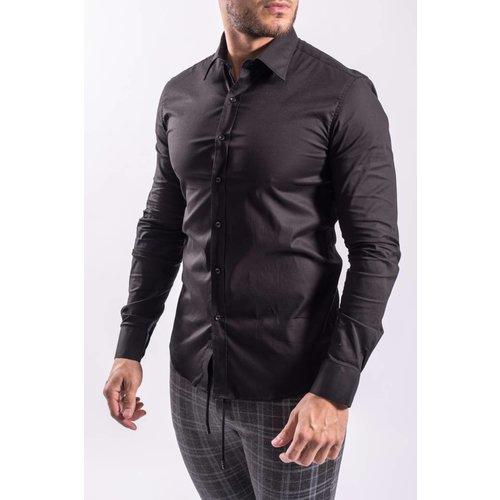 Slim fit blouse BLACK