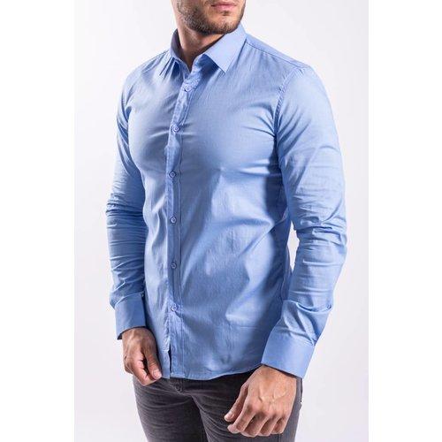 Slim fit blouse LIGHT BLUE