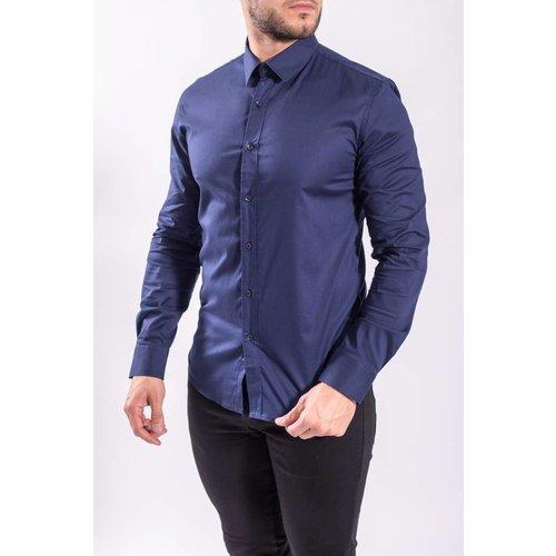 Slim fit blouse Dark BLUE