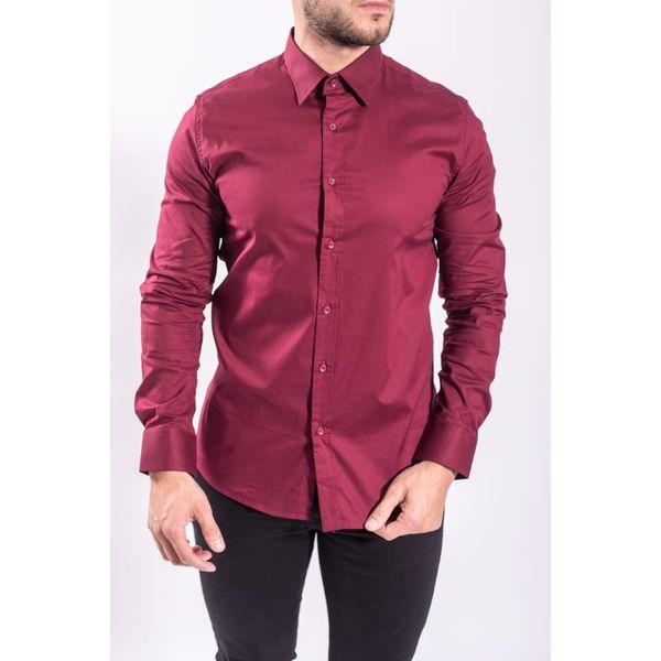 Y Slim fit blouse BORDEAUX