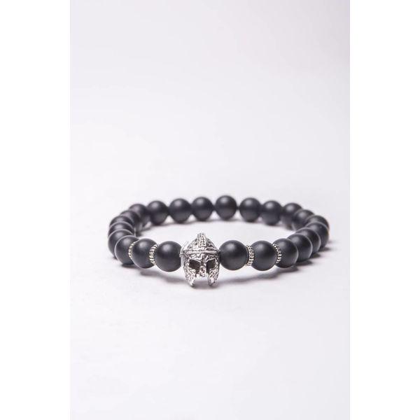 Y Bracelet silver ridder Black