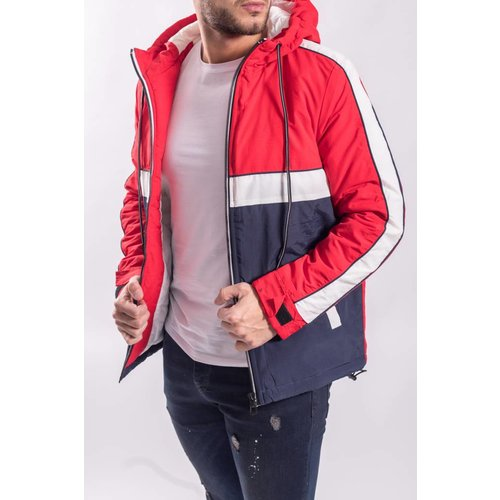 Jacket red - white - blue
