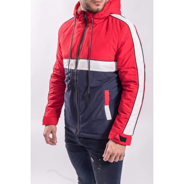 Y Jacket red - white - blue