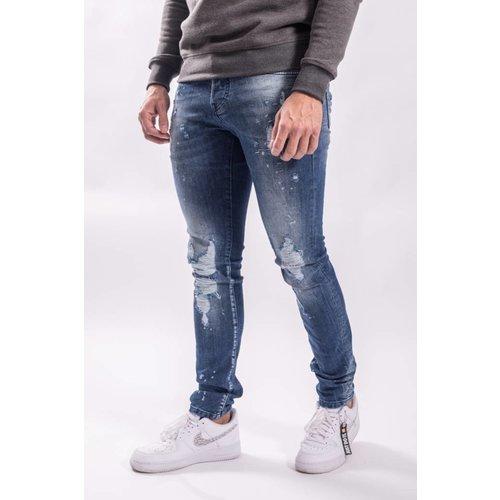 Y XPLCT Stefano stretch Jeans Blue distressed